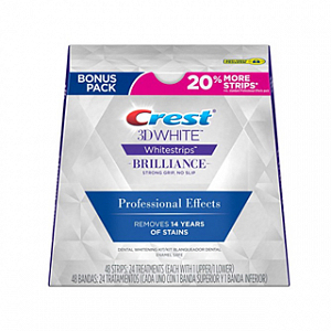 Отбеливающие полоски Crest 3D White Whitestrips Professional Effects Brilliance